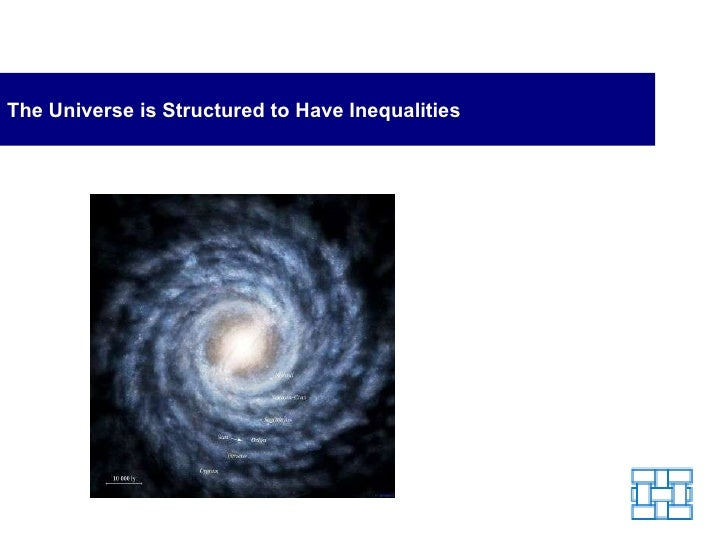 The Universe is Structured to Have Inequalities
