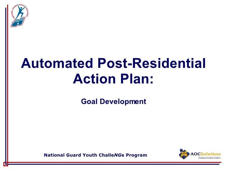 Automated Post-Residential Action Plan: Goal Development