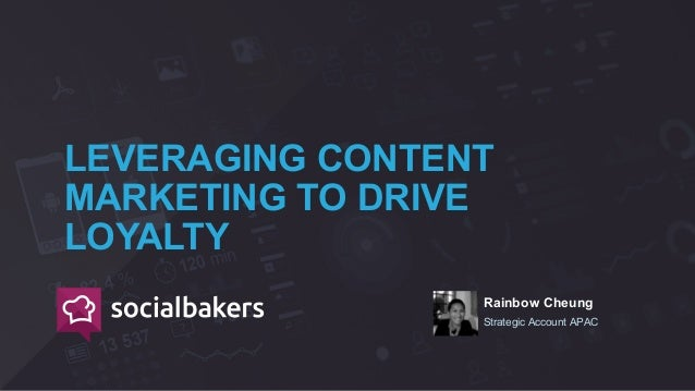 Rainbow Cheung Strategic Account APAC LEVERAGING CONTENT MARKETING TO DRIVE LOYALTY