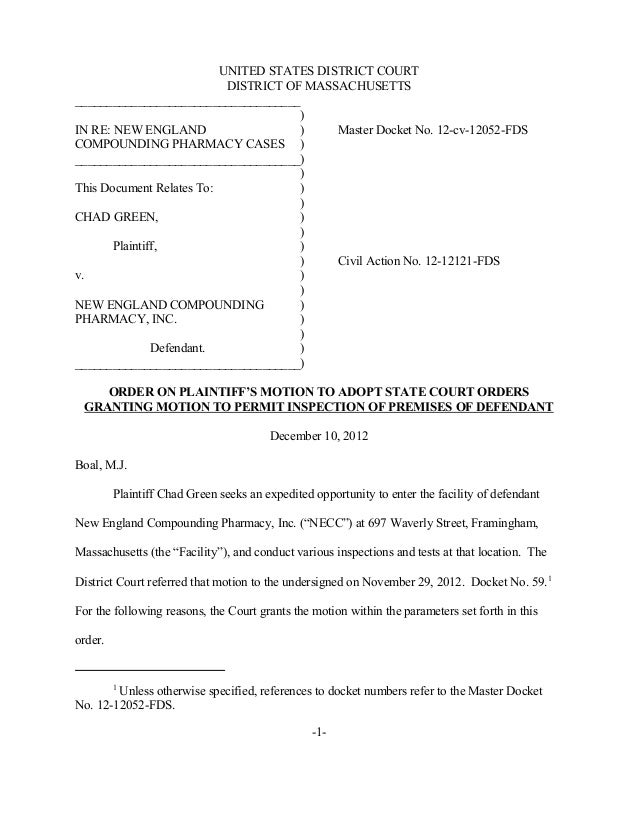 UNITED STATES DISTRICT COURT                           DISTRICT OF MASSACHUSETTS____________________________________      ...