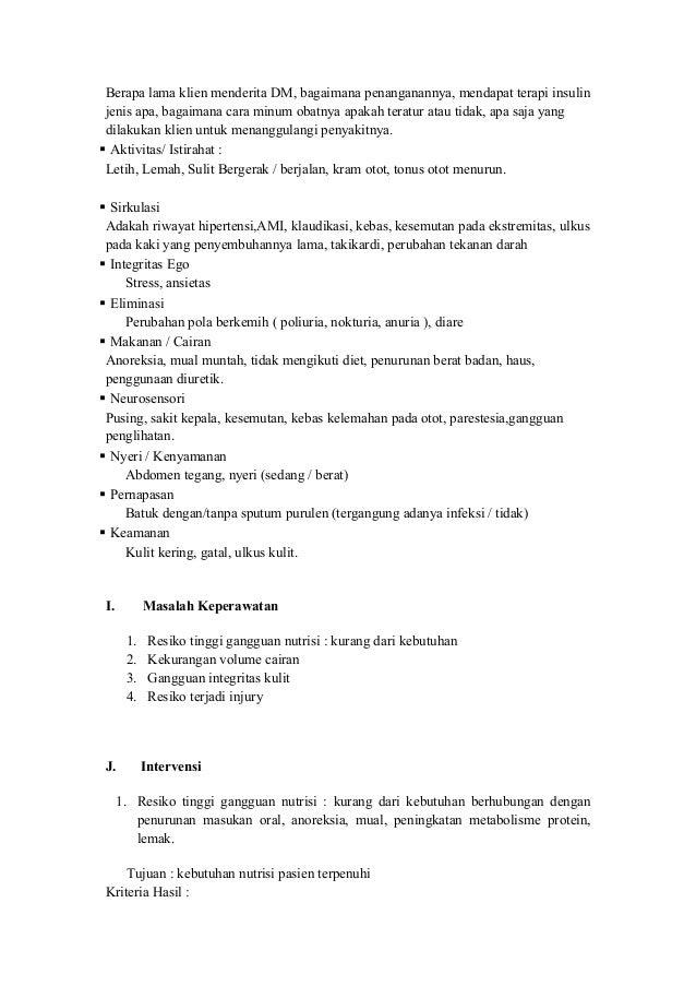 Askep Diabetes Mellitus Tipe 1 Lengkap, Format doc dan pdf