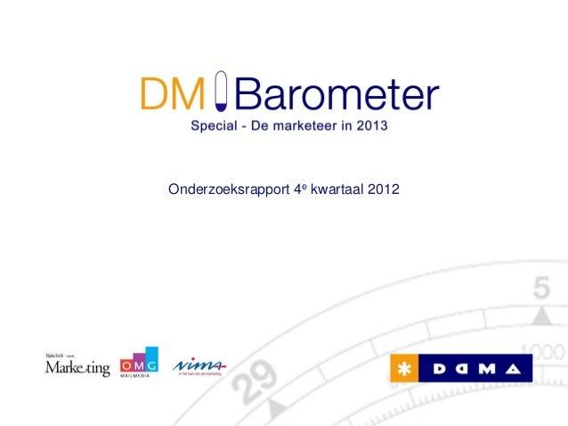Onderzoeksrapport 4e kwartaal 2012