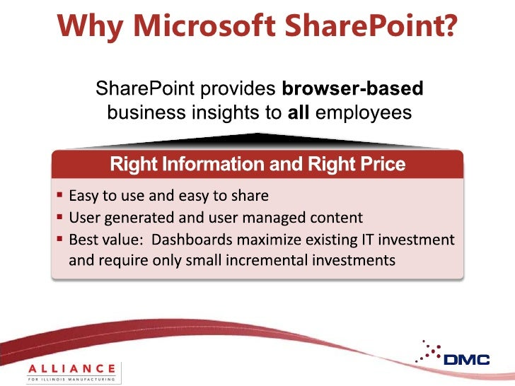 DMC: Use Microsoft SharePoint Technology You Already Own to