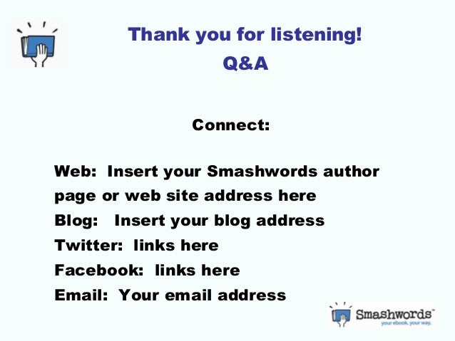 Template for Smashwords authors: Introduction to ebooks