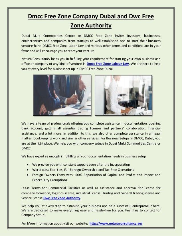 Dmcc Free Zone Company Dubai and Dwc Free Zone Authority