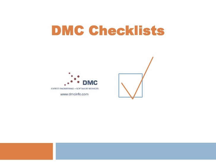 DMC Checklists<br />