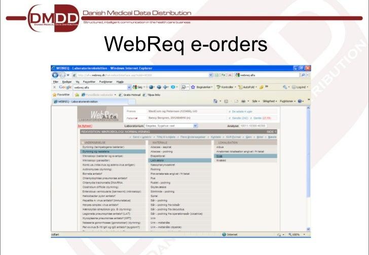 eLab Electronic Lab Test Ordering: DMDD's Danish Perspective