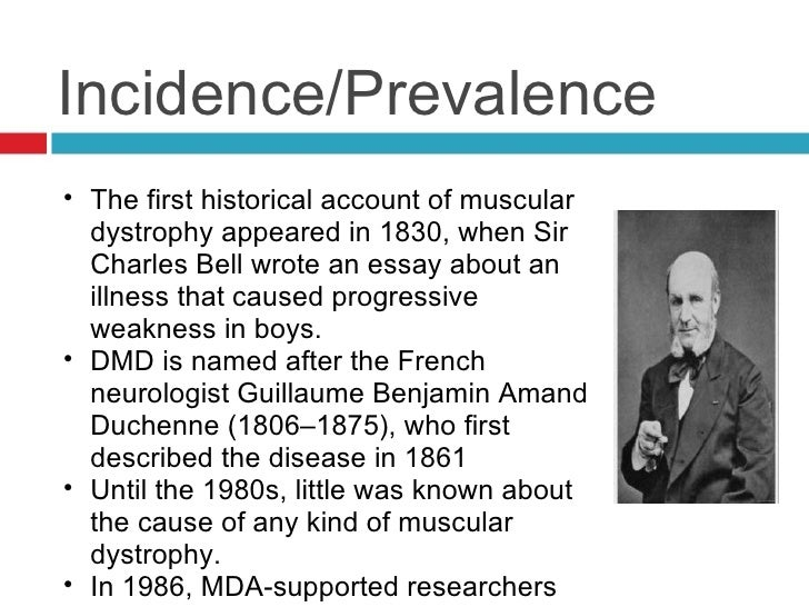 muscular dystrophy md essay Causes of muscular dystrophy the main cause of muscular dystrophy is genetic inheritance the main culprit is the dystrophin gene which may undergo mutation even in people with no history of genetic inheritance of the disease about a third of md patients fall into this category the presence of the disease in the body.