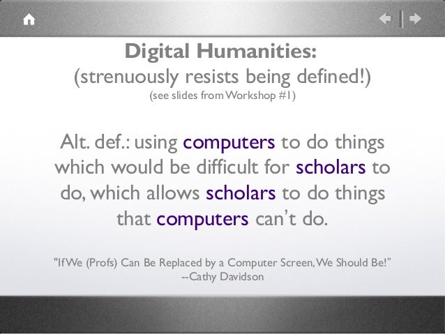 DMDH 2014: Workshop 5: Project Ideation and Development Slide 3