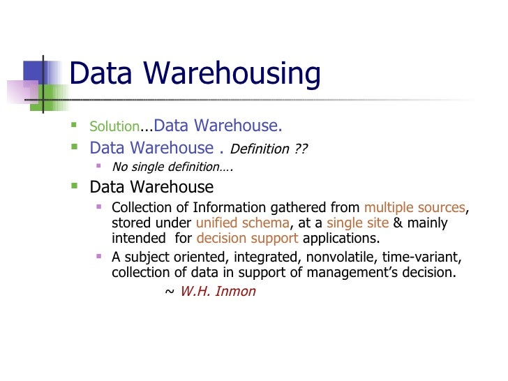 thesis on warehousing