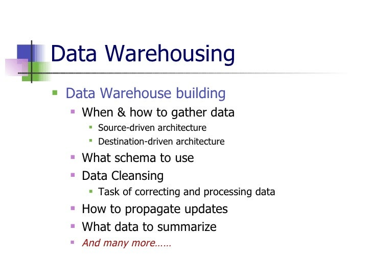 thesis on data warehousing and data mining Data warehousing and data mining are critical aspect of modern healthcare practices data mining (dm) is a process that aims to use existing data to uncover.