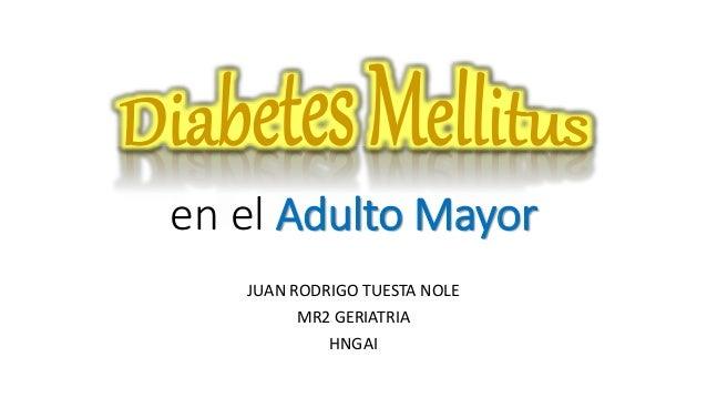 sintomas de diabetes mellitus en el adulto mayor