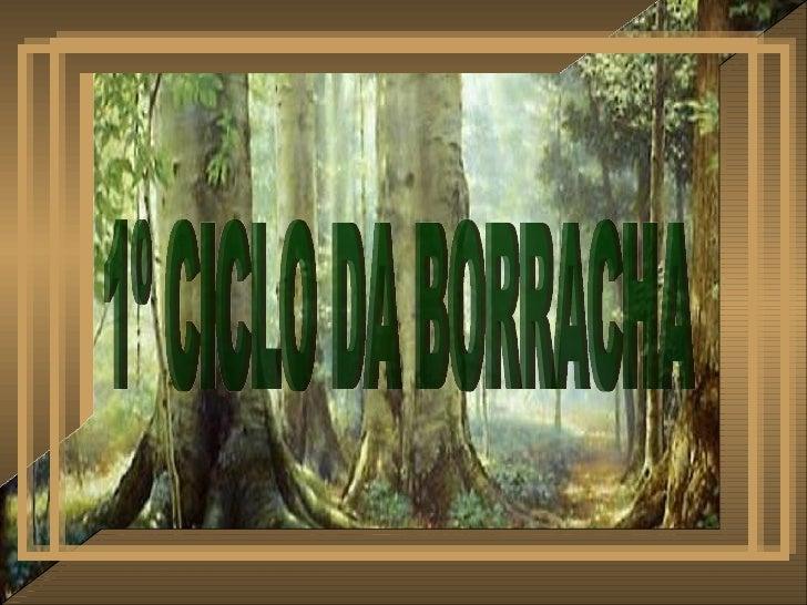 1º CICLO DA BORRACHA