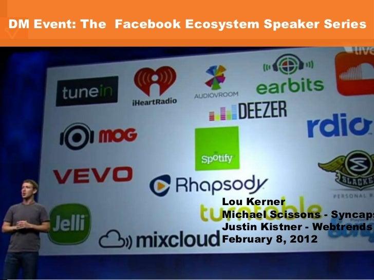 DM Event: The Facebook Ecosystem Speaker Series                                                                           ...