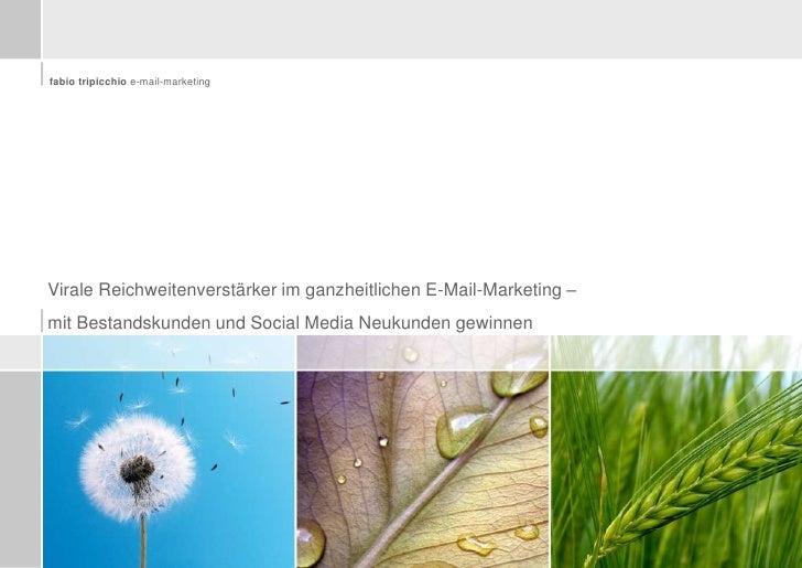 Virale Reichweitenverstärker im ganzheitlichen E-Mail-Marketing – <br />mit Bestandskunden und Social Media Neukunden gewi...