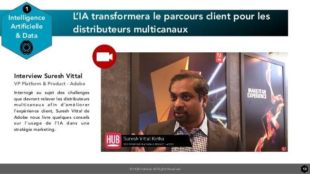 © HUB Institute All Rights Reserved 13 L'IA transformera le parcours client pour les distributeurs multicanaux Intelligenc...
