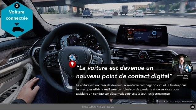 """© HUB Institute All Rights Reserved """"La voiture est devenue un nouveau point de contact digital"""" La voiture est en train d..."""