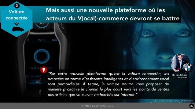 © HUB Institute All Rights Reserved 25 Mais aussi une nouvelle plateforme où les acteurs du V(ocal)-commerce devront se ba...
