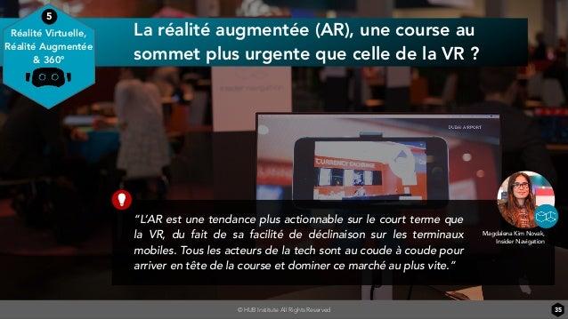"""© HUB Institute All Rights Reserved La réalité augmentée (AR), une course au sommet plus urgente que celle de la VR ? 35 """"..."""