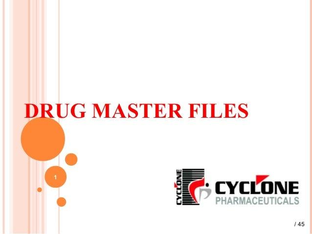 DRUG MASTER FILES 1 / 45