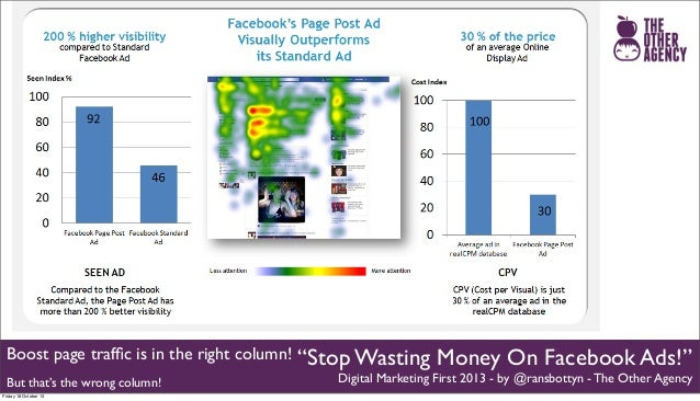 "Boost page traffic is in the right column! But that's the wrong column! Friday 18 October 13  ""Stop Wasting Money On Facebo..."