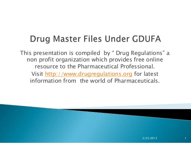 "This presentation is compiled by "" Drug Regulations"" a  non profit organization which provides free online     resource to..."