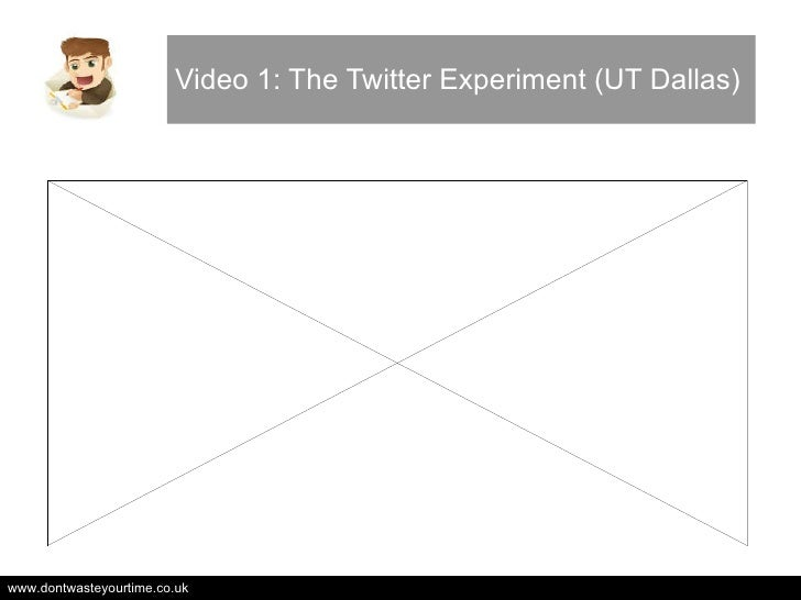 Video 1: The Twitter Experiment (UT Dallas)