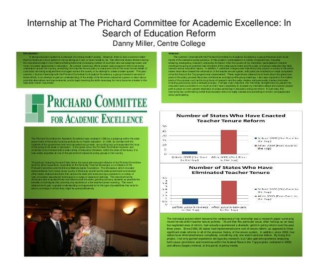 Internship at The Prichard Committee for Academic Excellence: In                      Search of Education Reform          ...