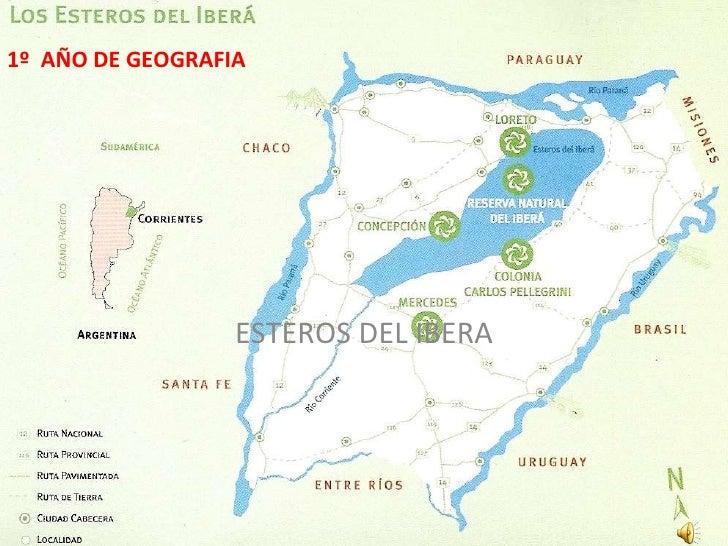 ESTEROS DEL IBERA 1º  AÑO DE GEOGRAFIA