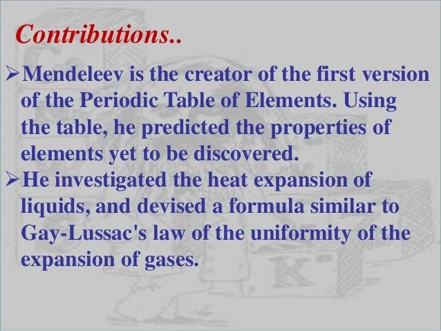Dmitri Mendeleev Ppt