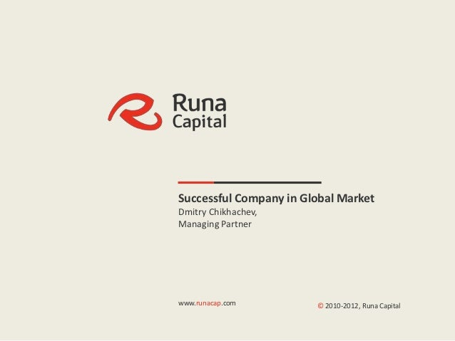 |1                  Successful Company in Global Market                  Dmitry Chikhachev,                  Managing Part...
