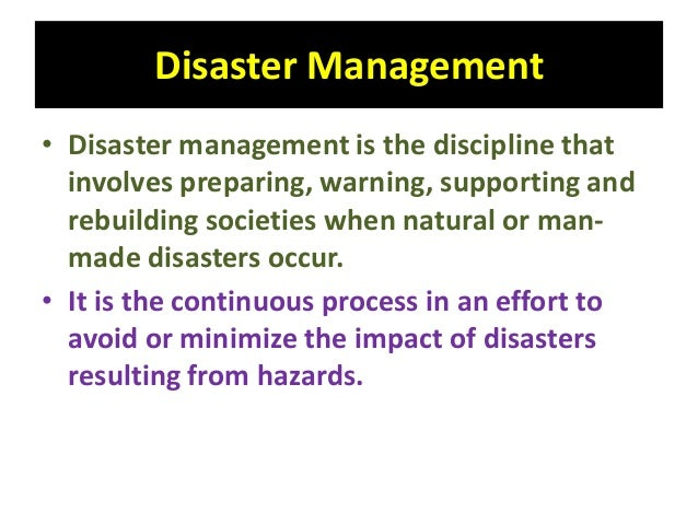 management of disasters and crisis situations Coping with disaster  they might need crisis counseling or stress management assistance:  disasters can leave children feeling frightened, confused, and.