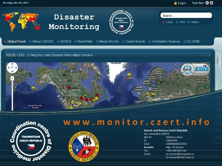 www.monitor.czert.info            Search and Rescue Czech Republic            Ant. Smutného 630/75            664 47      ...