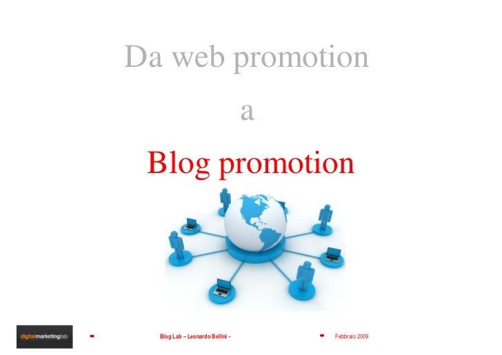 Da web promotion  a  Blog promotion