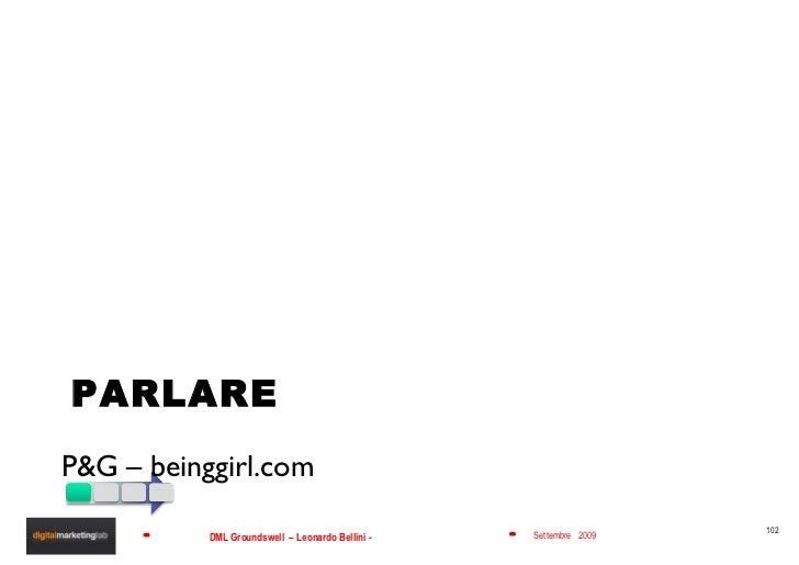 PARLARE <ul><li>P&G – beinggirl.com </li></ul>