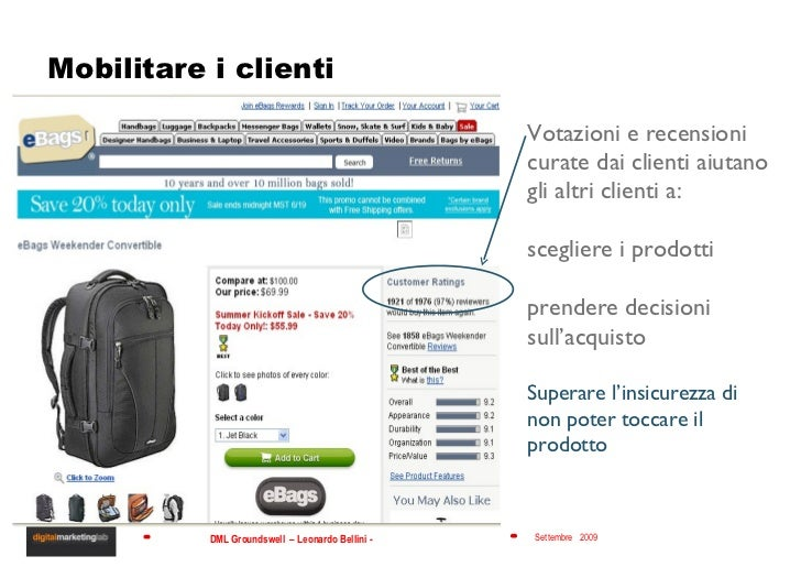 Mobilitare i clienti Votazioni e recensioni curate dai clienti aiutano gli altri clienti a: scegliere i prodotti prendere ...