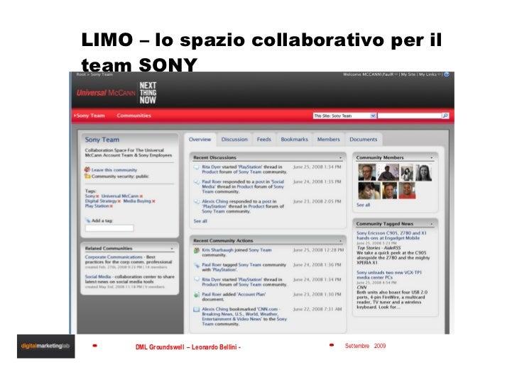 LIMO – lo spazio collaborativo per il team SONY