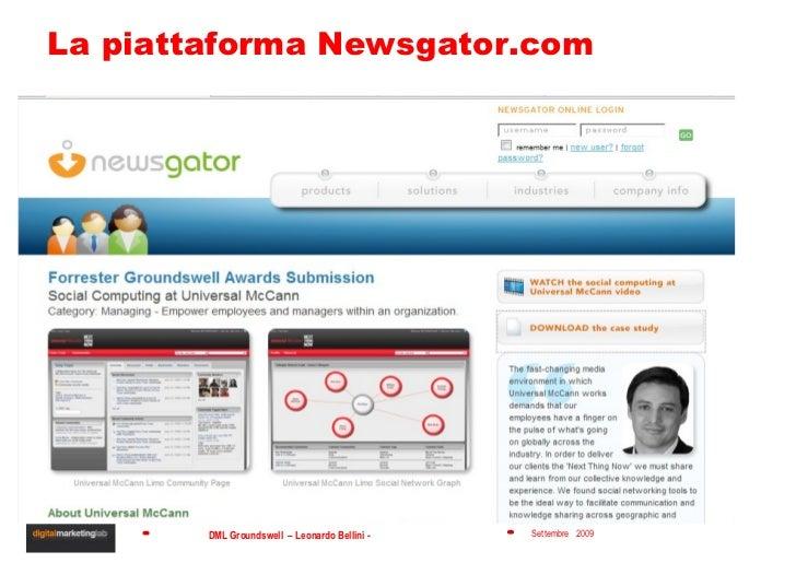 La piattaforma Newsgator.com