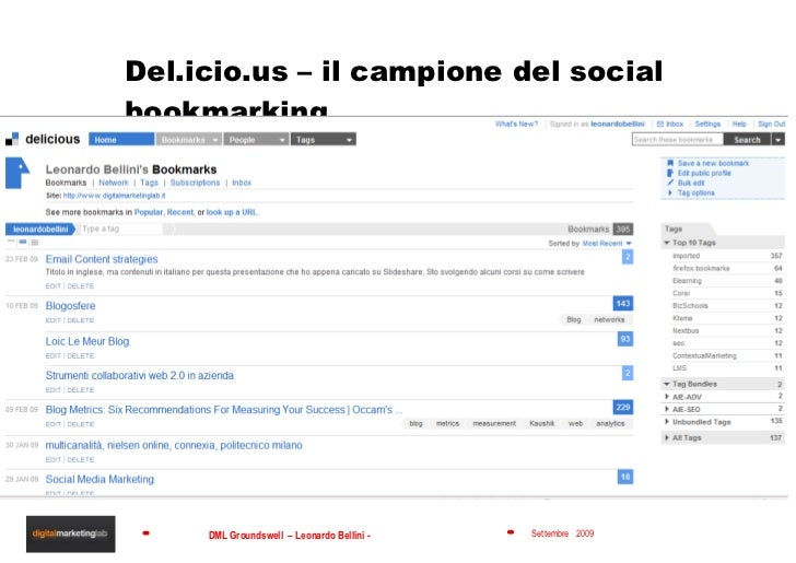 Del.icio.us – il campione del social bookmarking