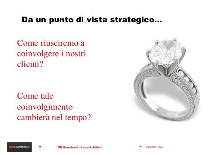 Da un punto di vista strategico… Come riusciremo a coinvolgere i nostri clienti? Come tale coinvolgimento cambierà nel tem...