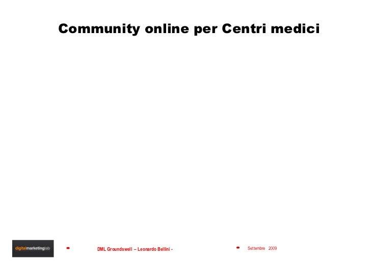 Community online per Centri medici