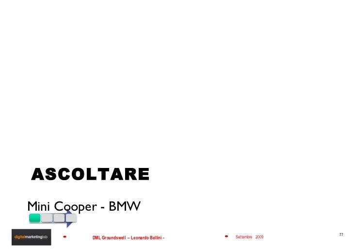 ASCOLTARE <ul><li>Mini Cooper - BMW </li></ul>