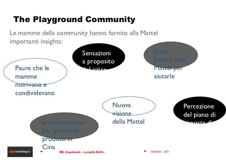 The Playground Community Le mamme della community hanno fornito alla Mattel importanti insights: Sensazioni a proposito de...