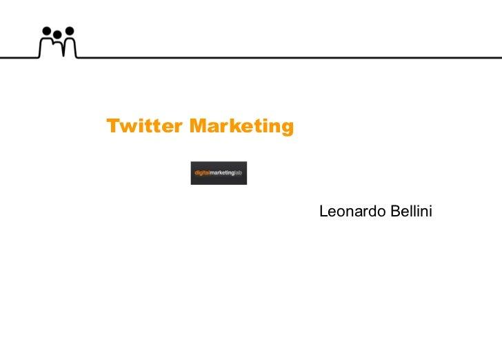 Twitter Marketing Leonardo Bellini
