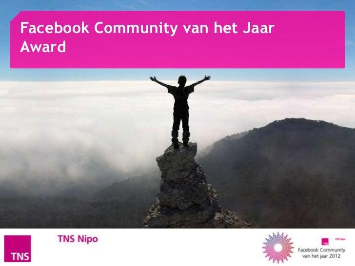Facebook Community van het JaarAward