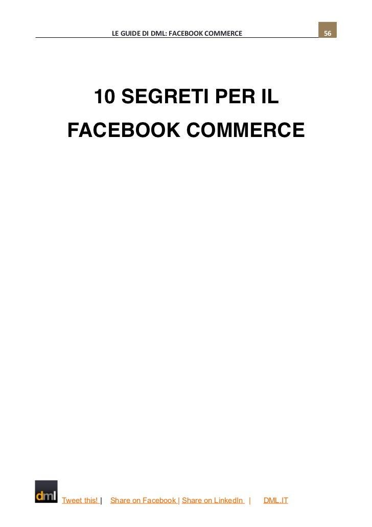 Dml guida al facebook commerce for Segreti facebook