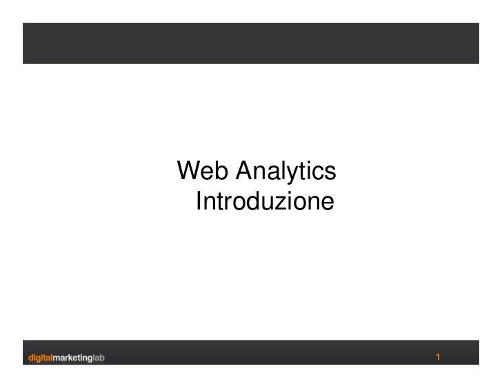 Web Analytics  Introduzione                     1