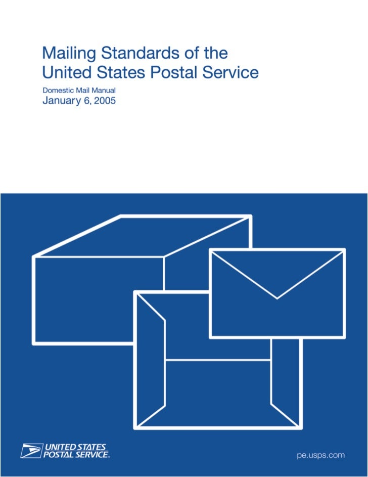 1 Overview             Mailing Standards of the             United States Postal Service             DMM             100  ...