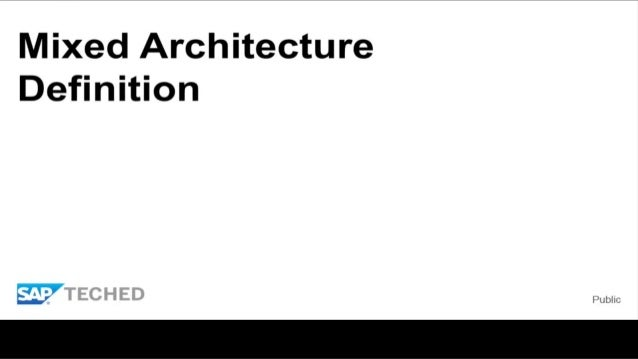 Dmm300 mixed scenarios architecture hana models bw for Anarchitecture definition