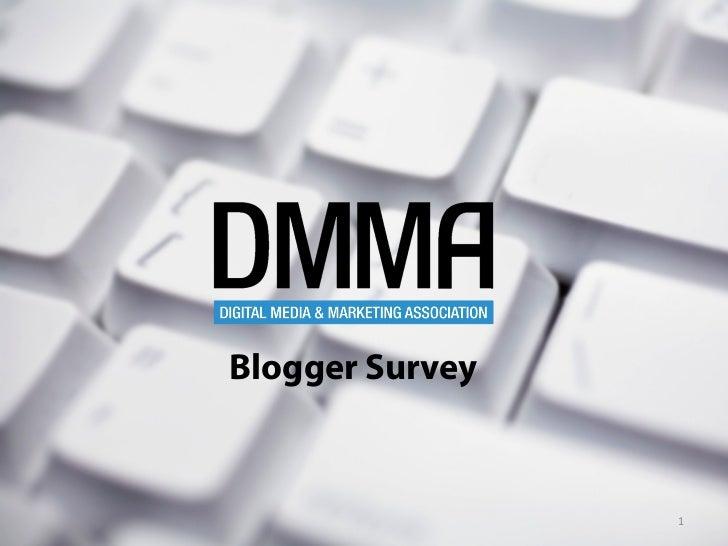 Blogger Survey                 1